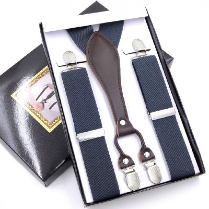 Подтяжки для брюк серые Jierku GF-05