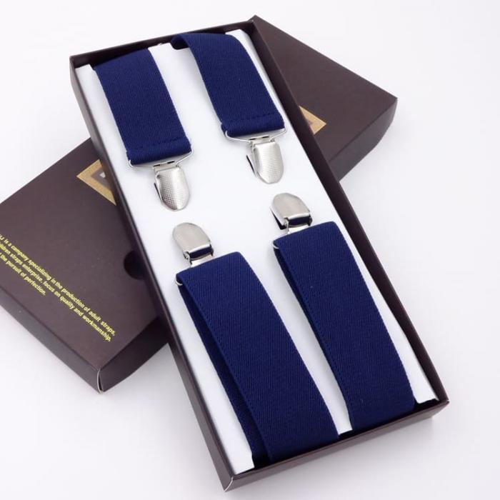 Подтяжки синие для мужчин G.Miller X-образные GM-02