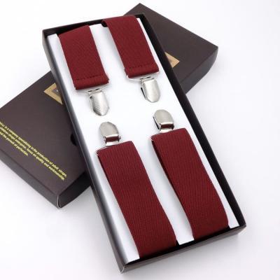 Подтяжки для брюк мужские G.Miller X-образные бордовые