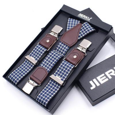 Подтяжки с узором и усиленными клипсами Jierku Y-образные JK-08