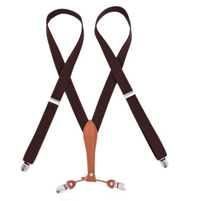 Узкие женские подтяжки Jierku коричневые JR-17