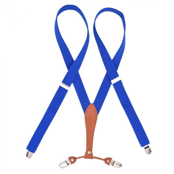 Узкие женские подтяжки Jierku ярко-синие JR-18