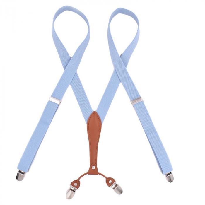 Подтяжки узкие женские Jierku светло-голубые JR-21