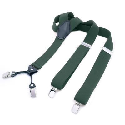 Подтяжки  зеленые 4 клипсы MF-01