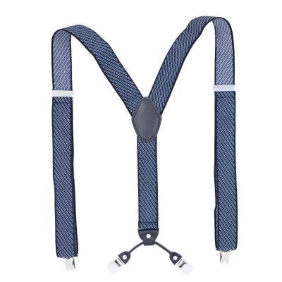 Подтяжки мужские синие 4 клипсы MF-06