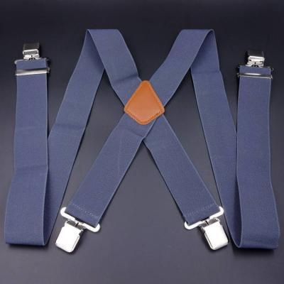 Подтяжки  широкие 5см X-образные серые SH-01