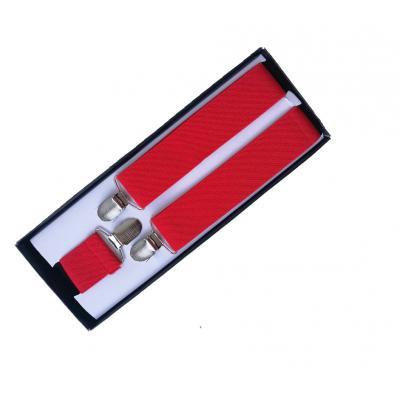 Подтяжки красные для брюк Y-образные