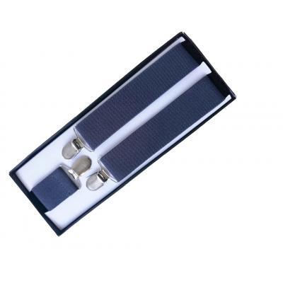 Мужские подтяжки серые для брюк Y-образные SS-05
