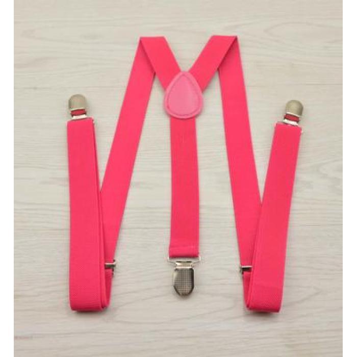 Женские подтяжки Victoria ярко-розовые
