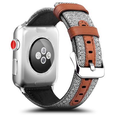 Белый кожаный ремешок для apple watch 38мм AW11-02