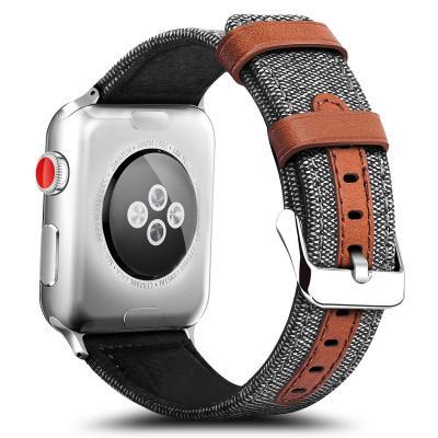 Кожаный серый ремешок для apple watch 38 мм AW11-03