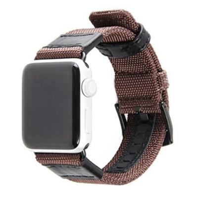 Коричневый ремешок для apple watch нейлон кожа 42мм AW13-102