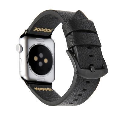 Ремешок для apple watch 42 мм из кожи черный AW14-101