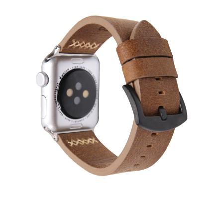 Коричневый ремешок для apple watch кожаный 42мм AW14-102