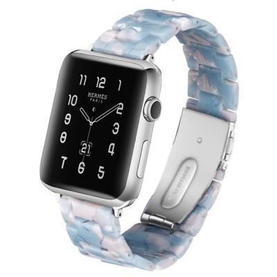 Голубой полимерный ремешок для apple watch 38мм AW15-02