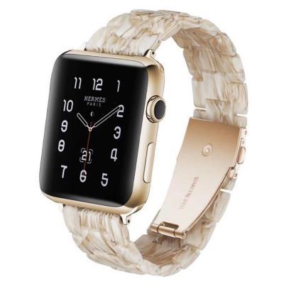 Бежевый полимерный ремешок для apple watch 42мм AW15-103