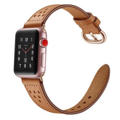 Кожаный коричневый ремешок для apple watch 38мм AW16-03