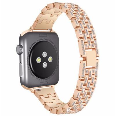 Ремешок для apple watch 42-44 мм металлический со стразами золотистый AW17-101