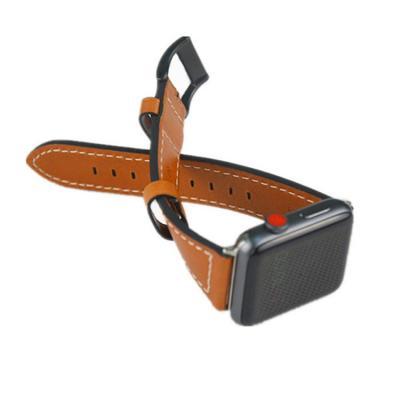 Кожаный ремешок для apple watch 42мм коричневый AW2-101