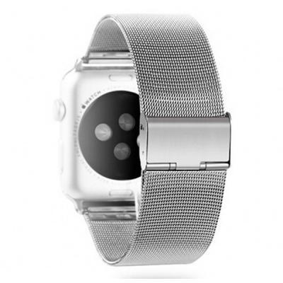 Миланский ремешок для apple watch 38 мм серебристый AW20-01
