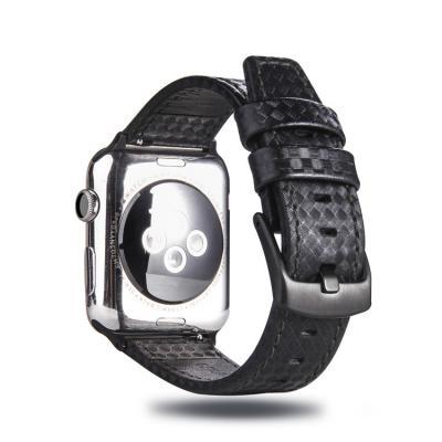 Ремешок для apple watch 38 мм кожаный черный AW21-01