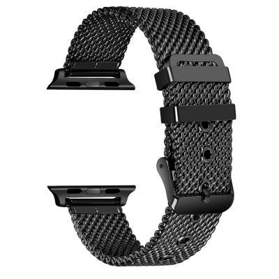 Ремешок для apple watch 42 мм из нержавеющей стали черный AW23-101