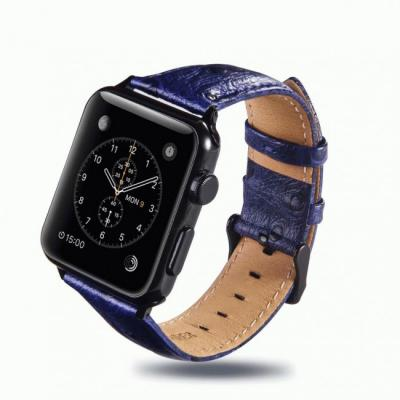 Ремешок для apple watch 42 мм кожаный синий AW24-101