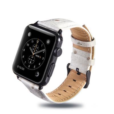 Белый ремешок для apple watch 42мм из кожи AW24-104