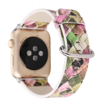 Разноцветный кожаный ремешок для apple watch 38мм AW26-02
