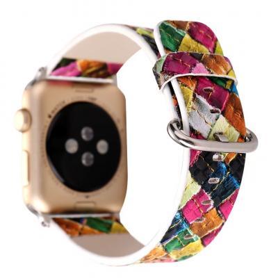 Кожаный разноцветный ремешок для apple watch 42мм AW26-103