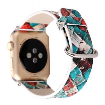 Голубой ремешок для apple watch 42мм из кожи AW26-104