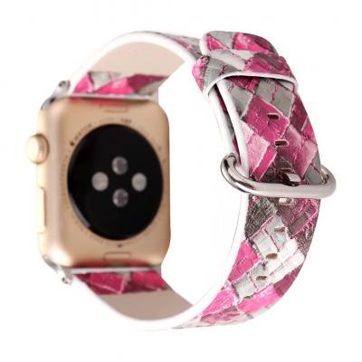 Розовый ремешок для apple watch 42мм из кожи AW26-105