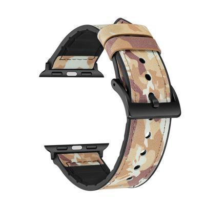 Кожаный камуфляжный ремешок для apple watch 38мм AW27-03
