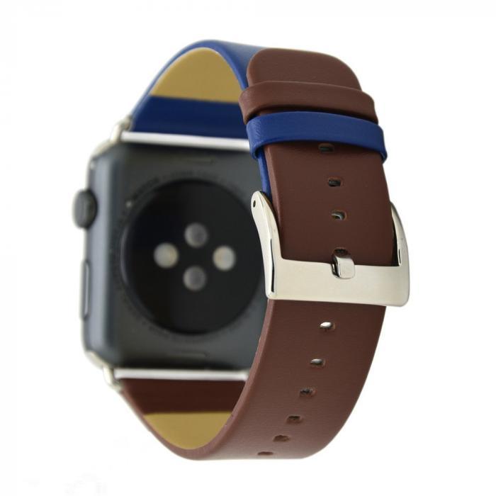 Сине-коричневый ремешок для apple watch 42мм из кожи AW28-104