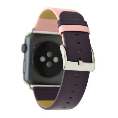 Фиолетово-розовый ремешок для apple watch 38мм из кожи AW28-05