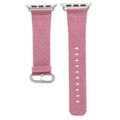 Розовый кожаный ремешок для apple watch 38мм AW29-02