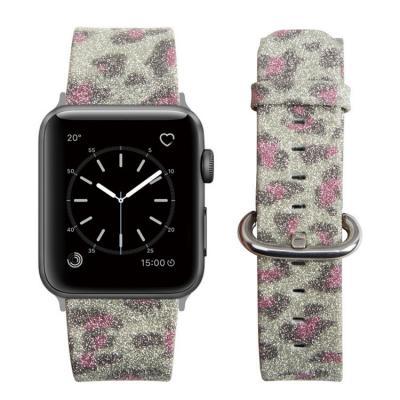 Кожаный серый ремешок для apple watch 38мм AW29-03