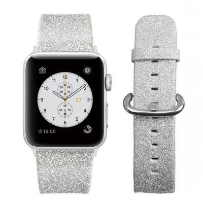 Серый ремешок для apple watch 42мм из кожи AW29-105