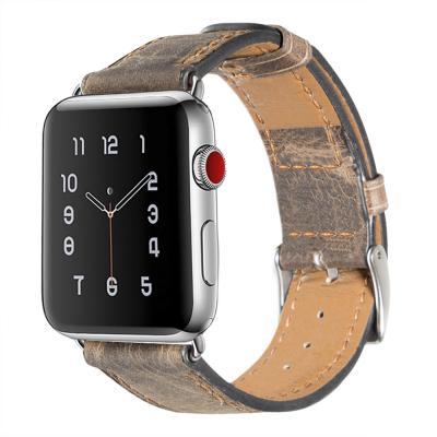 Винтажный ремешок для apple watch 38мм коричневый AW3-02