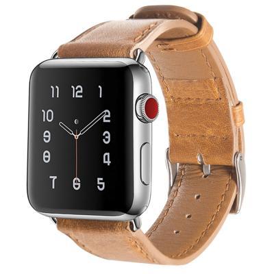 Кожаный ремешок для apple watch 38мм коричневый AW3-03