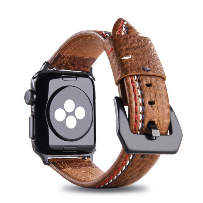 Коричневый кожаный ремешок для apple watch 38мм AW31-02
