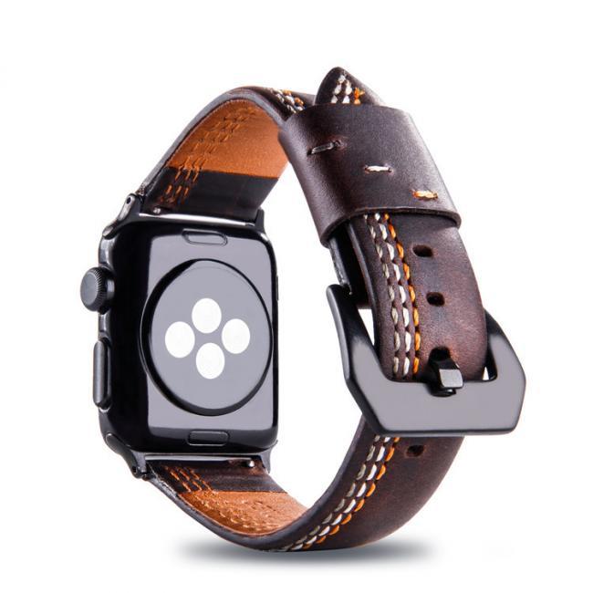 Ремешок для apple watch 42мм из кожи темно-коричневый AW31-104