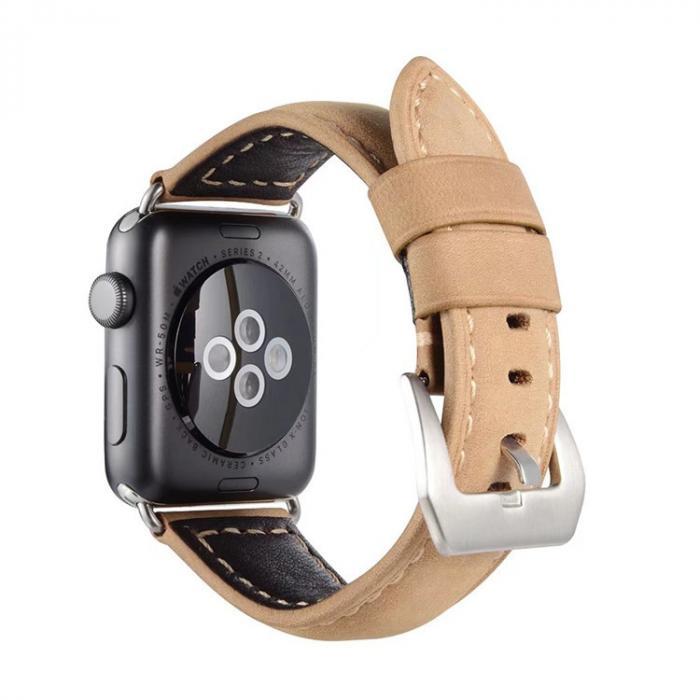 Бежевый кожаный ремешок для apple watch 38 мм AW32-01