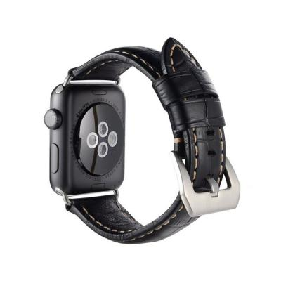 Черный кожаный ремешок для apple watch 42мм AW32-102