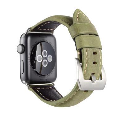 Кожаный зеленый ремешок для apple watch 38мм AW32-03
