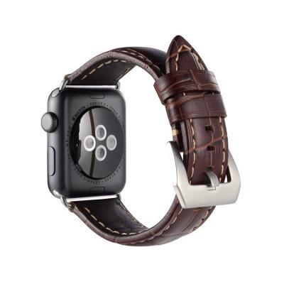Ремешок для apple watch 38мм из кожи темно-коричневый AW32-04