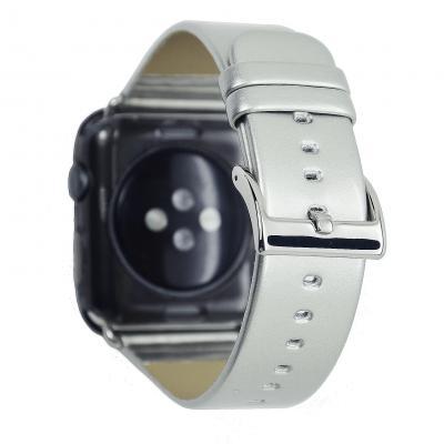 Серый кожаный ремешок для apple watch 38 мм AW33-01