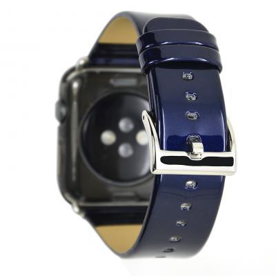 Синий кожаный ремешок для apple watch 42мм AW33-102