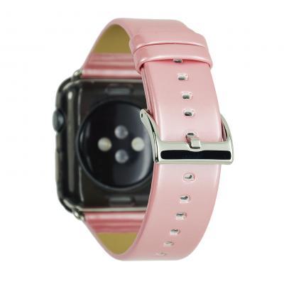Кожаный розовый ремешок для apple watch 38мм AW33-03