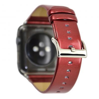 Ремешок для apple watch 42мм из лакированной кожи красный AW33-104
